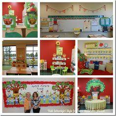 Apple theme classroom decor  Visit Schoolgirl Style for hundreds of classroom photos!