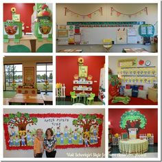 Apple theme classroom decor  Visit Schoolgirl Style for hundreds of classroom photos!