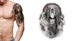 Bear Tattoo. You dream it, we draw it. Get started on your custom tattoo design today! :)