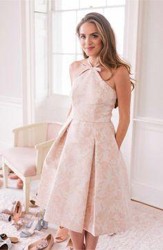 Main Image - Gal Meets Glam Collection Sea Holly Jacquard Halter Dress