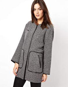 Trim Patch Pocket Coat
