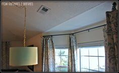 from Gardners 2 Bergers: DIY Curtain Rods [Sliding Glass Door & Bay Window]