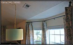 from Gardners 2 Bergers: DIY Curtain Rods [Sliding Glass Door & Bay Window]