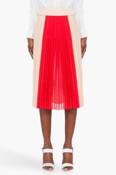 Chloe Pleated Silk Skirt