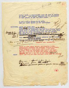 Fernando Pessoa typescript, 1930