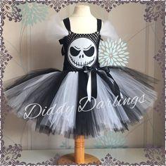 Jack Skellington Tutu Dress. Halloween Tutu by DiddyDarlings