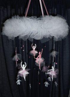 Ballet mobile Ballerina pink and white