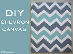 I cut out chevron pattern with my Silhouette, traced it, but then painted it by hand (no blue tape).