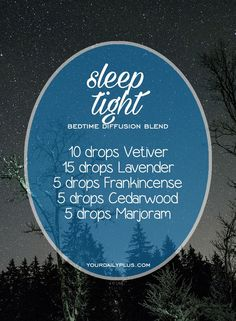 Having trouble sleeping? Try these essential oils for deep sleep that promote relaxation and a restful sleeping environment. Sleep Tight diffusion blend with Vetiver, Lavender, Frankincense, Cedarwood and Marjoram.