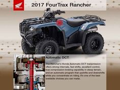New 2017 Honda FourTrax Rancher 4x4 Automatic DCT EPS ATVs For Sale in Florida. Something For Just About Everyone.Any mechanic, woodworker, tradesman or craftsman knows that the right tool makes the job a whole lot easier. And having the right tool means having a choice. We've all seen someone try to drive a screw with a butter knife, or pound a nail with a shoe heel. The results are never pretty.