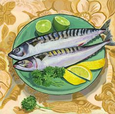 '  Mackerel' by Jane Dunn Borresen.New print available on  - http://fineartamerica.com/featured/-mackerel-jane-dunn-borresen.htm Acrylic Print $93