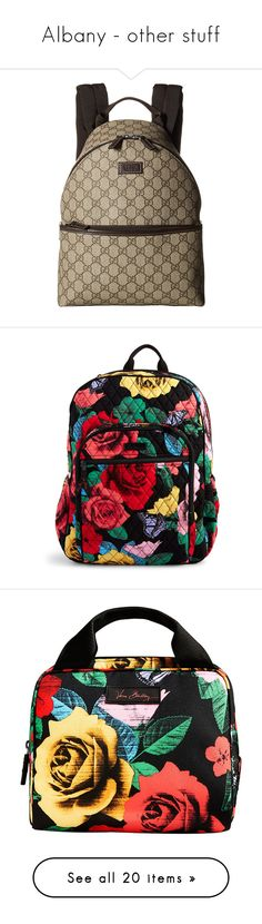 """Albany - other stuff"" by those-families ❤ liked on Polyvore featuring AlbanyAkira, bags, backpacks, havana rose, mesh bag, zip bag, knapsack bag, vera bradley bags, pocket bag and home"