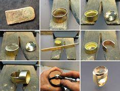 Joli-Design: gold citrine ring, bague citrine or 750 Jewelry Tools, Metal Jewelry, Jewelry Crafts, Silver Jewelry, Jewelry Accessories, Handmade Jewelry, Jewelry Design, How To Make Rings, Jewelry Making