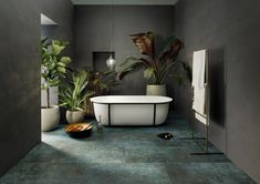 Clawfoot Bathtub, Design, House, Bathroom, Living Area, Boden, Clawfoot Tub Shower, Washroom, Haus