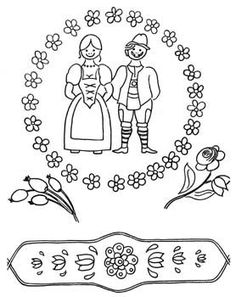Dessins polychrome - maison de poupée - vitrines miniatures Embroidery Works, Embroidery Motifs, Vitrine Miniature, Quilling, Folk Art, Diy And Crafts, Sewing Cabinet, Templates, Miniatures