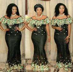 The internet was flooded with so many aso ebi styles. The fascinating thing about aso ebi styles is the fact that creative directors and fashion African Lace Dresses, African Dresses For Women, African Attire, African Wear, African Fashion Dresses, African Women, African Outfits, Ankara Fashion, African Beauty