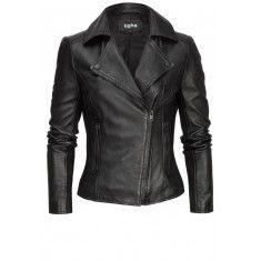 Azra Leren Jas Zwart Leather Jacket, Jackets, Fashion, Studded Leather Jacket, Down Jackets, Moda, La Mode, Leather Jackets, Fasion