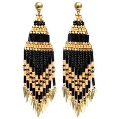 Boucles d'oreilles Ulla (Gas bijoux) black and gold