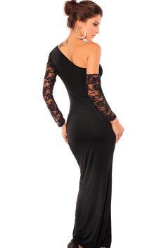 Vestidos de Encaje Negro Largos - Para Más Información Ingresa en: http://vestidosdenochecortos.com/vestidos-de-encaje-negro-largos/