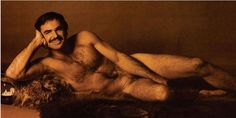 Burt Reynolds posed in Cosmopolitan.