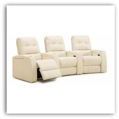 Palliser Record Home Theater Seating - We ordered these in black for our home theater. I hope they work out! Ready for Shannon to move in.
