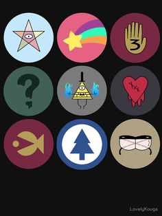 All the symbols mean something and that thing is special except the heart one the heart one is so weird Gravity Falls Anime, Gravity Falls Dipper, Gravity Falls Fan Art, Gravity Falls Bill, Monster Falls, Gavity Falls, Desenhos Gravity Falls, Reverse Falls, Billdip