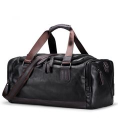 PU Leather Men Gym Bag Sports Duffel Travel Luggage Tote Bags Fitness Handbag - Travel Duffel Bags - Ideas of Travel Duffel Bags Handbags For Men, Leather Handbags, Vintage Handbags, Luxury Handbags, Mens Travel Bag, Travel Bags, Travel Luggage, Shoulder Handbags, Shoulder Bags