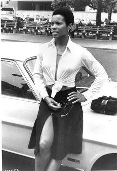 Actress Gloria Hendry! :Yep, bow down. She was just that bad! She was powerful in a little package. These women made me know I could do anything!
