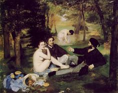 원작 마네 <풀밭위의 점심>   1862-1863 컨버스에 유채 프랑스 파리 오르세 미술관 소장