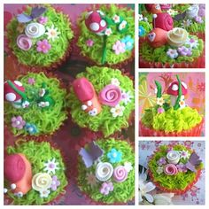Tutorial: How to make grass on cupcakes