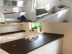 #Nero #Devil #Black #Granit hat vollständig diese Küche verändert und verschönert.  http://www.maasgmbh.com/arbeitsplatten