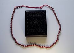 Witchcraft: Rowan berry necklace (charm/tools) Protection/curse, Privately owned UK Westcountry Collection. Old Blood, Traditional Witchcraft, Wicca Witchcraft, Necklace Charm, Paganism, Amulets, Book Of Shadows, Rowan, Occult