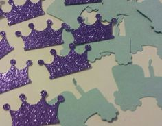 Tractors or tiaras glitter confetti You pick colors! Gender Reveal party or baby shower table or invitation decor