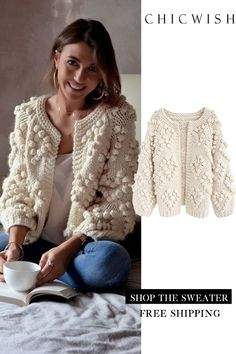 Search results for: 'Knit Your Love' - Retro, Indie and Unique Fashion Unique Fashion, Trendy Fashion, Winter Cardigan, Knit Cardigan, Stylish Shirts, Stylish Outfits, Blouse Outfit, Ivoire, Crochet Clothes