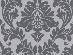 Graham & Brown offers a wide selection of Damask wallpaper and wall coverings for your home. Shop for modern design wallpaper and Damask wall coverings now. Grey Damask Wallpaper, B&w Wallpaper, Black And White Wallpaper, Wallpaper Online, Textured Wallpaper, Black White, Wallpaper Backgrounds, Wallpaper Samples, Black Silver
