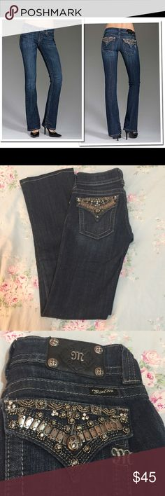 """💋Miss Me Dark Wash Bootcut Jeans Size 26 Waist💋 These are authentic dark wash Miss Me jeans that are boot cut size 26! The style number is """"JP4656-2"""". Perfect condition! No pulls or rips in seams or denim. All jewels are intact as well as the buttons and zipper. The color as listed on the tag is """" Dark 21B"""". 98% cotton and 2% elastic. Comment if you have any questions or want additional pictures or measurements! (: Miss Me Jeans Boot Cut"""