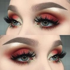 Un look muy atrevido. #Ojos #Sombras #marsala - Tap the Link Now to Shop Hair Products, Beauty Products and Kitchen Gadgets Online at Great Savings and Free Shipping!! https://getit-4me.com/