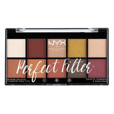 Eyeshadow Palette    Perfect Filter Shadow Palette- Rustic Antique (rust & orange neutrals w/ matte,shimmer & metallic finishes)