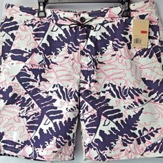 Levis Mens Tropical Leaves Board Shorts 38 Swim Trunks Bathing Suit NWT #Levis #BoardShorts