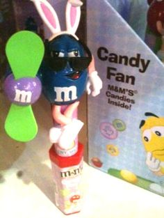 2011 M&Ms Easter Candy Fan Blue Character Candy Not for Consumption #mms