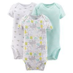 Just One You�Made by Carter's� Newborn 3 Pack Bodysuit - Green/Grey