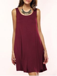GET $50 NOW | Join RoseGal: Get YOUR $50 NOW!http://www.rosegal.com/casual-dresses/casual-scoop-neck-sleeveless-flare-dress-for-women-595378.html?seid=5nb1l6pvn1usbnh2k7gba24bu1rg595378