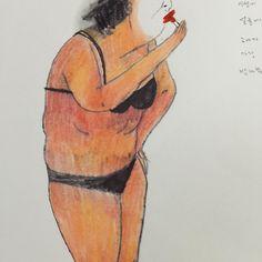 #화장 #일러스트 #두들링 #스케치북 #그림 #립스틱 #나이 #드로잉 #illust #illustration #skechbook #picture #lipstick #make_up #draw #doodling #drawing by myungaelee