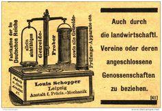 Original-Werbung/ Anzeige 1915 - GETREIDE-PROBER / LOUIS SCHOPPER - LEIPZIG - ca. 75 x 50 mm