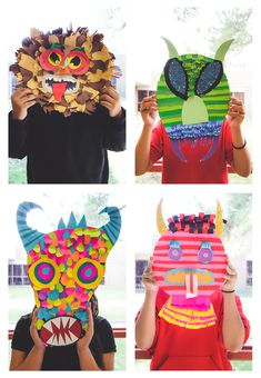 We just wrapped up our paper project for the year and I just couldn't wait any longer to share these awesome paper masks that the students have been working so hard on these … Diy For Kids, Crafts For Kids, Arts And Crafts, Recycled Art Projects, Clay Projects, Atelier D Art, Paper Mask, Art Brut, Masks Art