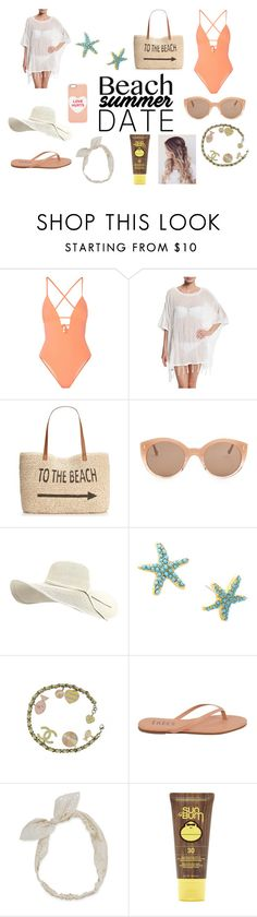 """Beach Date"" by charlotteflowerlover ❤ liked on Polyvore featuring Tart, Letarte, Style & Co., Illesteva, Lilly Pulitzer, Chanel, Tkees, Carole, Forever 21 and Marc Jacobs"