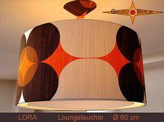 Leuchte LORA Ø 60 cm mit Lichtrand & Baldachin  von Gruzdz-Berlin auf DaWanda.com