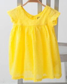 Sweet Yellow dress for little girl