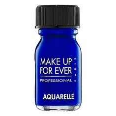 Make Up For Ever Aquarelle in Bright Blue. What's it for? Everything. Use it for eye make up or even for drawing temporary tattoos on yourself. Your imagination is the limit. #SephoraColorWash