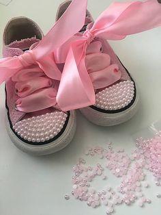 HomeDecor / Ružové converse tenisky s perličkami